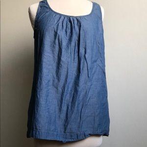 Cabi chambray sleeveless top